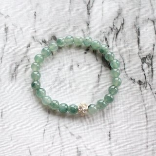 Journal-Ice Lake Pure Natural Lake Water Green Blue Jade (Burma Jade) Fine Beaded Bracelet