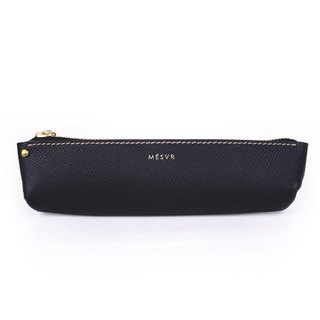 [Saffiano]|Pencil Case S|Zipper Pouch Silver Kraft