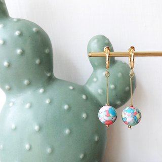[endorphin] Candy Stone Bead Drop Earrings - Plate