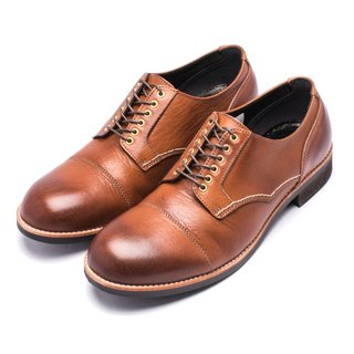 ARGIS Japanese outer feather root handmade wing leather shoes #71140咖啡-Japan handmade