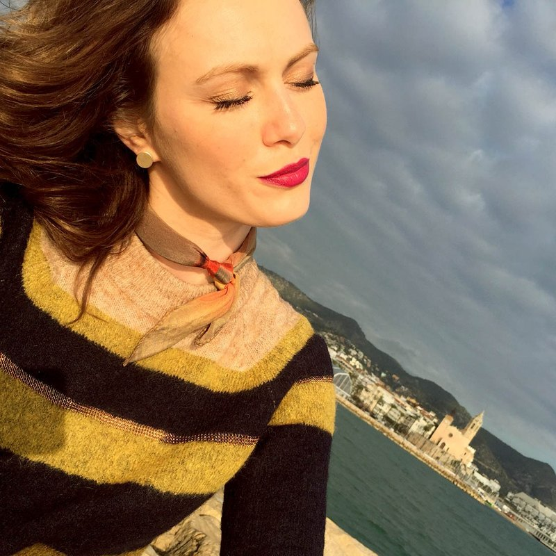 """High tide"" high-grade silk pure color scarf Paris fashion elements of Italian production of the embodiment of freedom"