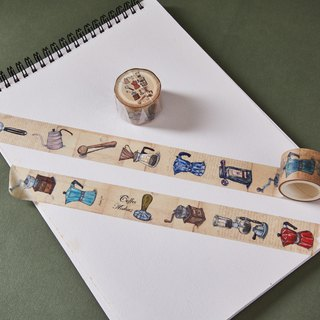 Vintage Coffee Barista Washi Tape