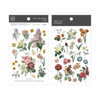 [Print-On Stickers] | Flower Series 46-Replica Flower | Pocket, DIY Friends