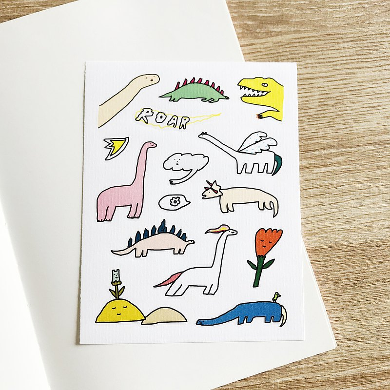 Dinosaurs thick and paper stickers