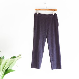 River Hill - Yuko crushing Check sleepwalking dream garden antique cotton suit pants straight vintage denim pants vintage