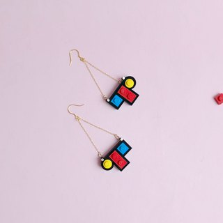 mini Mondrian  LEGO earrings