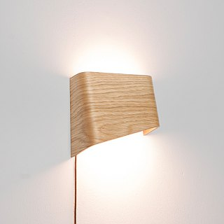 SLICEs LED wooden touch wall light ∣ dual light source switch ∣ left light source