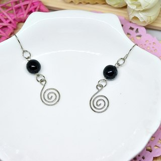 * Note * _ black alloy hook earrings ➪ Limited X1