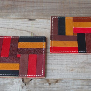 Nume leather mosaic coaster (E)