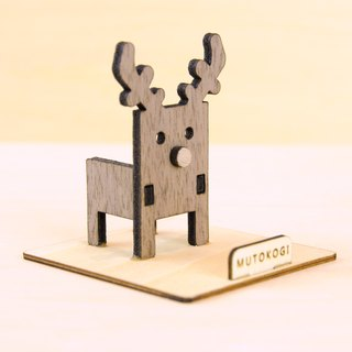 Forest deer x handmade wooden phone holder Christmas elk wedding small things exchange gifts MUTOKOGI