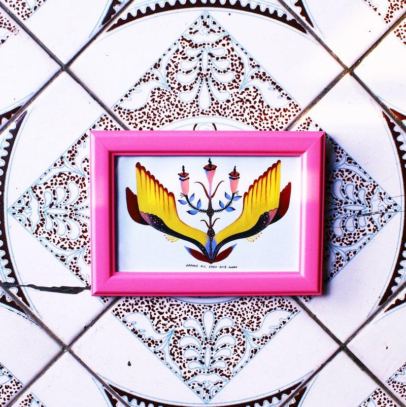 英國手繪  花朵 植物 植栽 粉紅 情人節/母親節/生日禮物/聖誕節