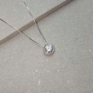 【Hongsheng jewelry】 fat round necklace 925 sterling silver