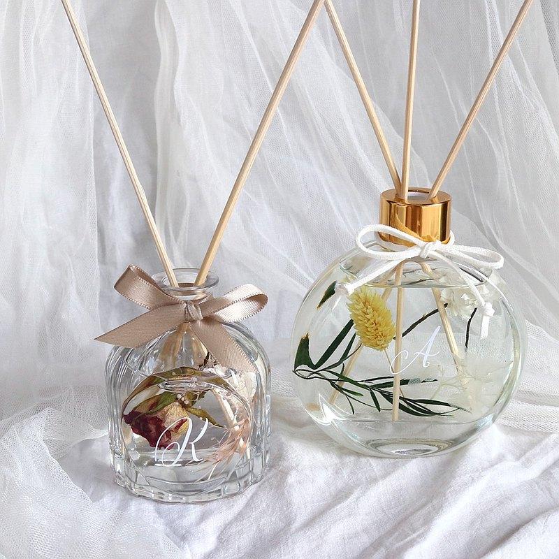 【可客製名字】屬於你的乾燥花擴香瓶 畢業禮物 情人節禮物 擴香