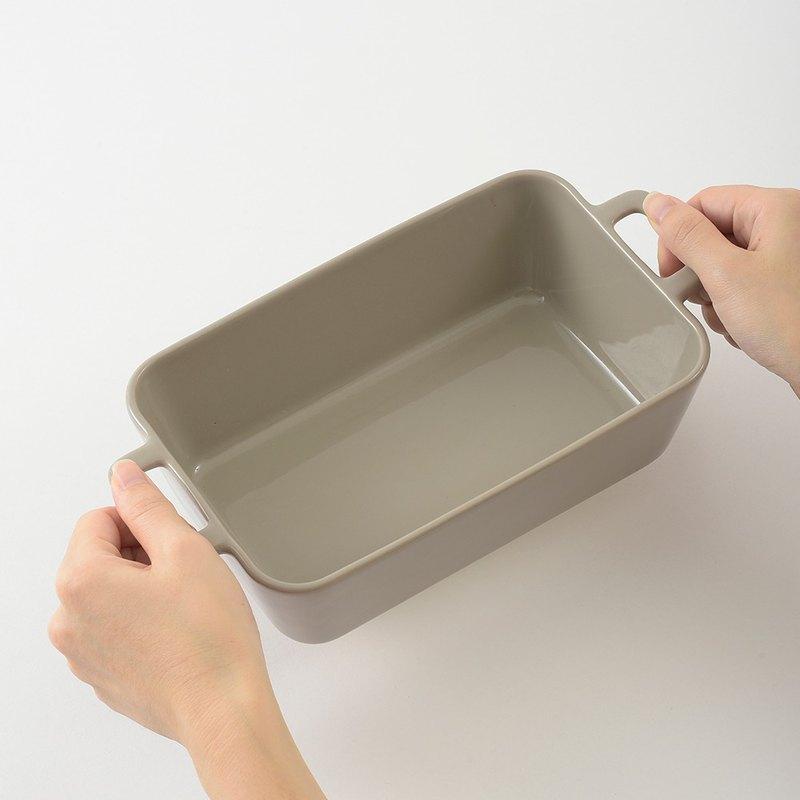 日本BRUNO mini陶瓷(方形)鍋 (灰色)(二入)