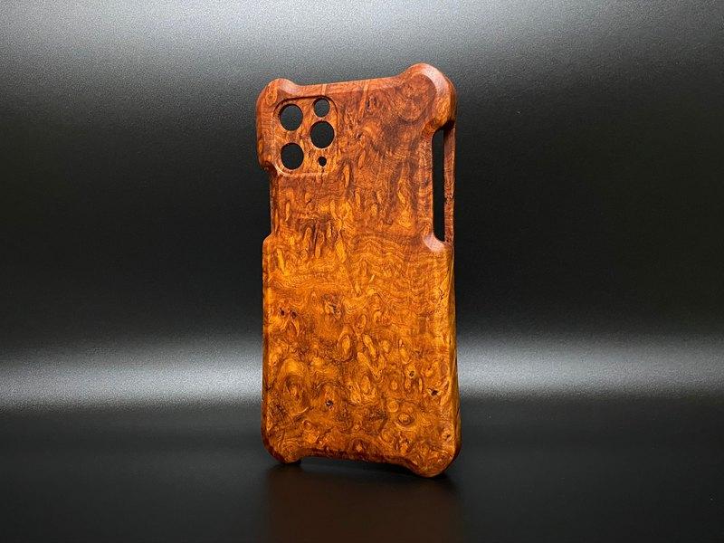 iPhone 11系列 木殼 緬甸花梨樹瘤