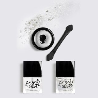[ANGELARIEL] Glossy Silver Extremely Bright Mirror Flour Perfect 3 Pieces