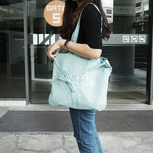 tote Bag: 'emma look sweet' (mint)