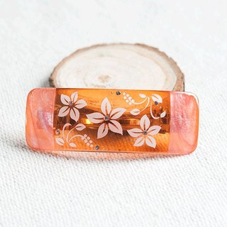 Transparent,carve flower barrette