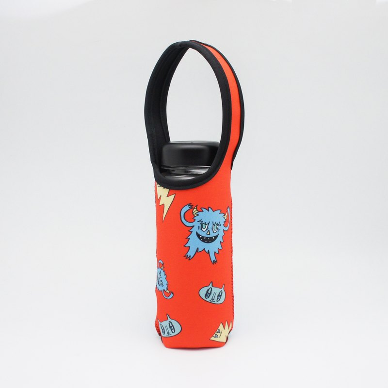 BLR Water Bottle Tote A Monster A Day [ Red Monster ] TC25