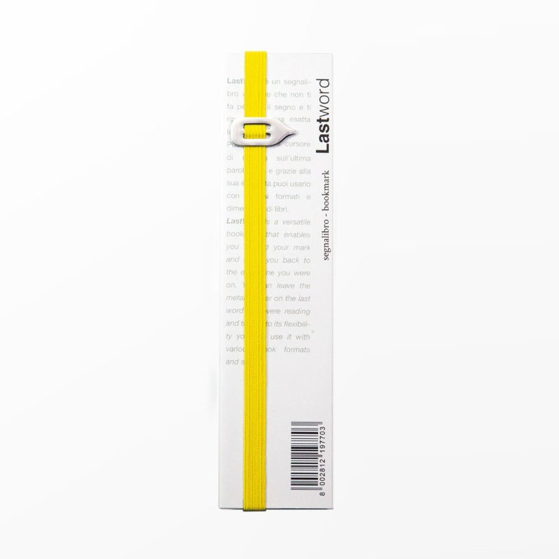 Italy pq Lastword bookmarks / yellow
