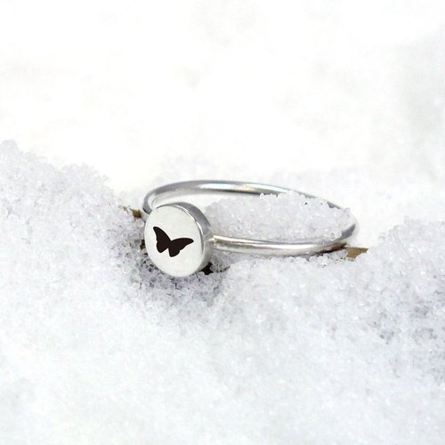 Small Round Series Custom Round - Symbol / Constellation Style Silver Ring (Medium) - 64DEISGN