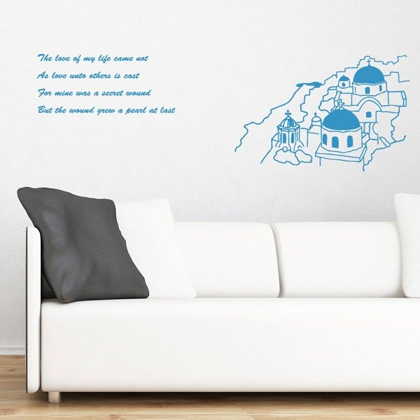 Smart Design Creative wall stickers Incognito ◆ Greek Aegean Sea (8 colors optional)