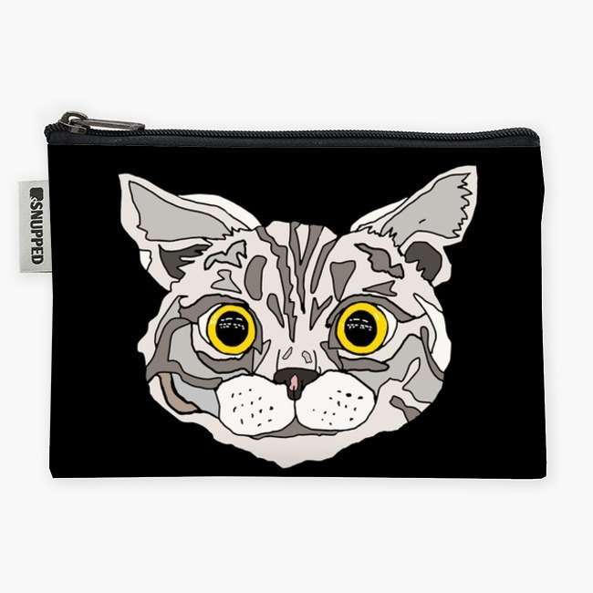 Snupped Zipper - Accessories Pouch - Cat Head