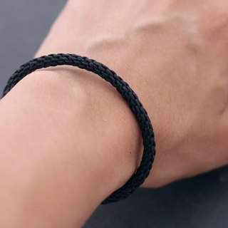 Woven Bracelets Basic Friendship Unisex Boy Black Cord