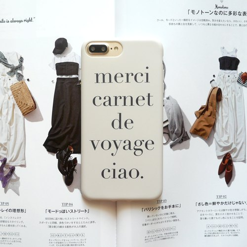 Merci alphabet letters mobile phone shell