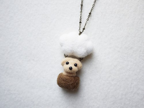 Petwoolfelt - Needle-felted Sky Travel Dog (necklace/bag charm)