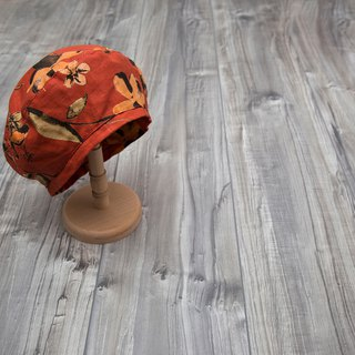 tree_japanese floral beret hat.blush maple
