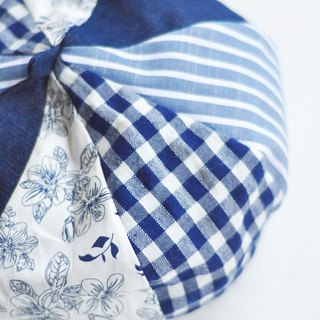 After school school handmade a blue and white porcelain limited limited beret hat