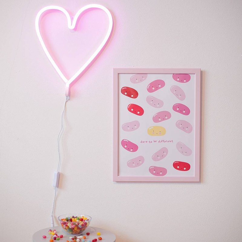 Netherlands a Little Lovely Company - Healing Pink Neon Art Deco Light