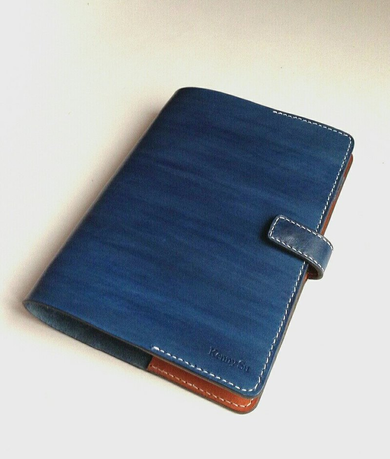 Hand-stitched leather fiber tanned leather A5 loose-leaf account