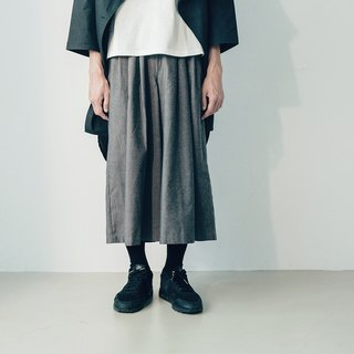 I . A . N Design Returns to the 70s - Vintage Wide Pants Dark Grey/Black Organic Cotton Organic Cotton
