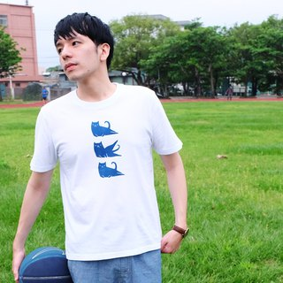 動滋動滋 / One More Two More / 藍染中性純棉T-Shirt