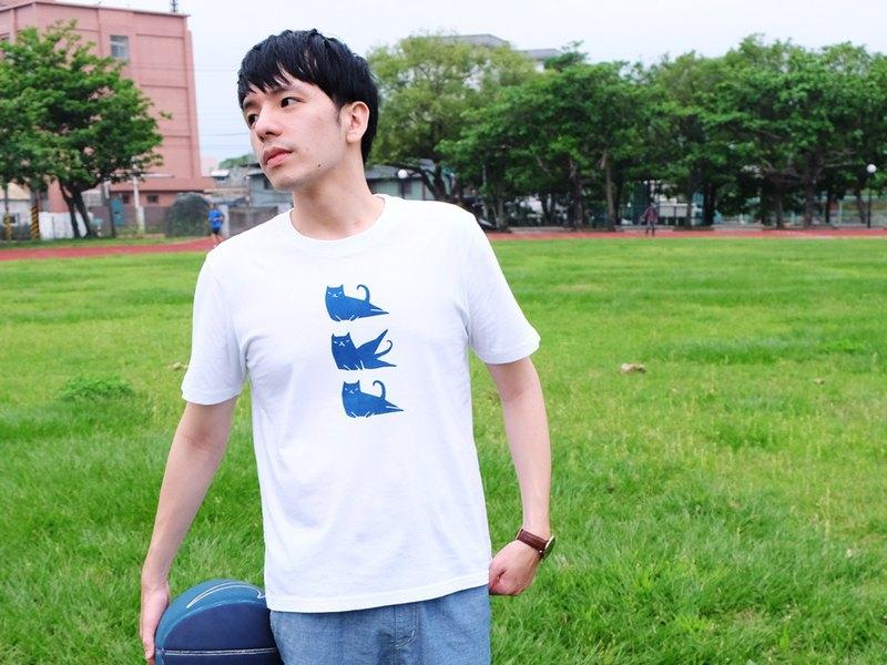動滋動滋 / One More Two More / 藍染中性純棉T-Shirt