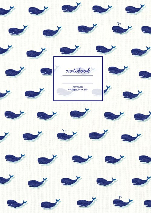Japan 【LABCLIP】 whale series A5 notebook
