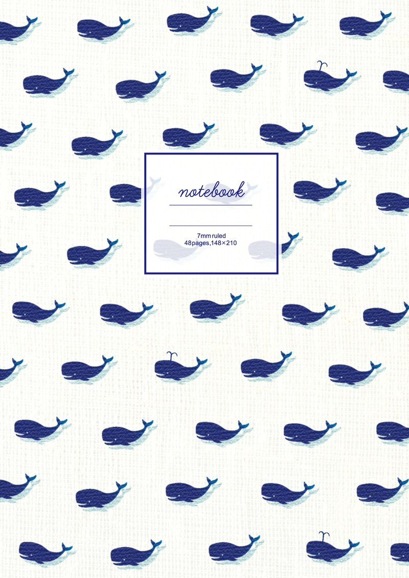 Japan [LABCLIP] whale series A5 notebook