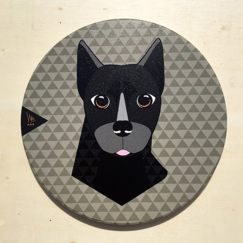 [Forest Animal Series]Q Taiwanese Terrier Ceramic Coaster