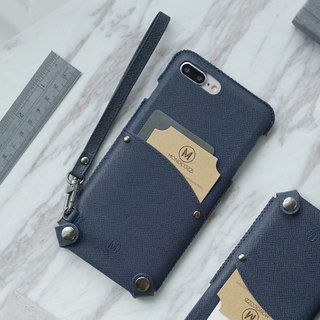 Posh | Soft PU Leather Pouch with strap for iPhone 7 Plus / 8 Plus