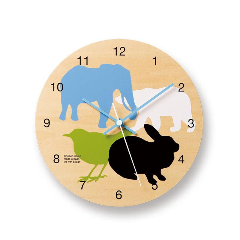 PC07-05 all Modern Animal Round Clock - Large Collection
