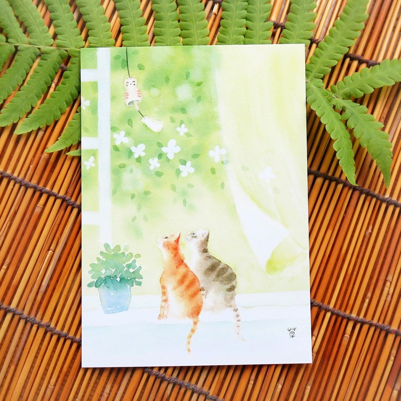 Summer breeze postcard