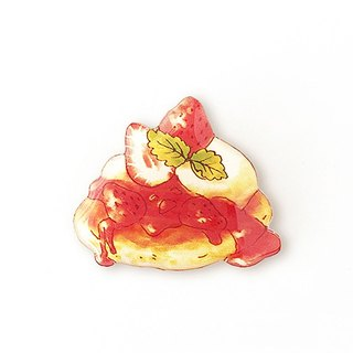 STRAWBERRY PANCAKE BROOCH
