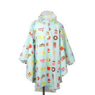 Waterproof breathable printed children raincoats <Happy Snack>