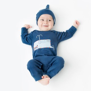 Whale baby grow  Bio Organic cotton