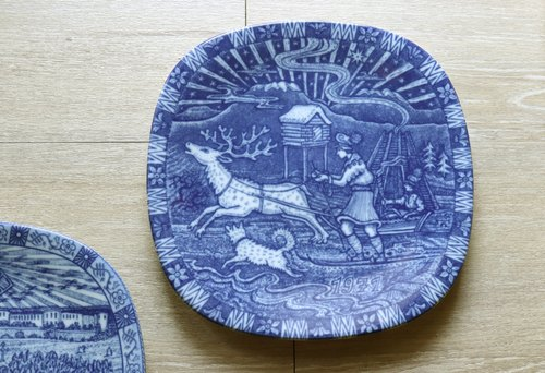 Swedish riding goose adventure Christmas commemorative plate _ 1971