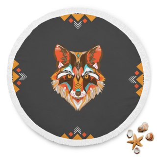 Wolf Design Beach Blanket
