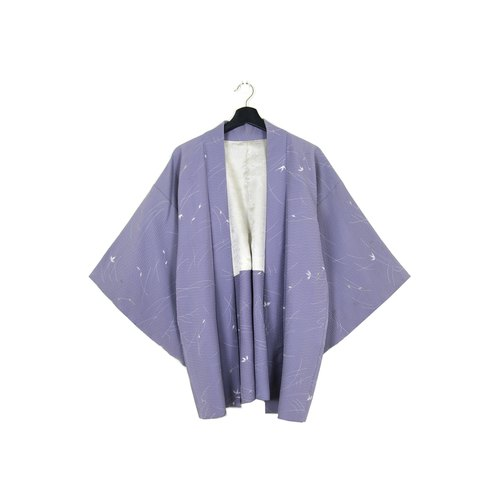 Back to Green :: Japan back to kimono pizza tan color / / men and women can wear / / vintage kimono (KC-29)