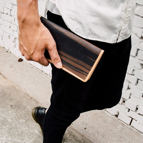 【TREETHER】Ebony Long Wallet
